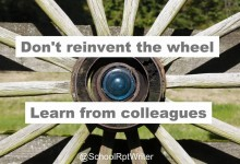 Don't reinvent the wheel! Learn from your colleagues! Say hi to #PLN